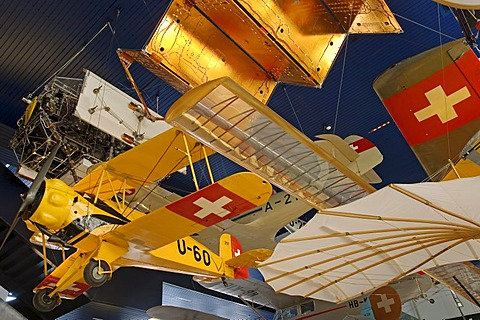 Exhibition of aircraft and flying machines, Museum of Transport, Lucerne, Switzerland