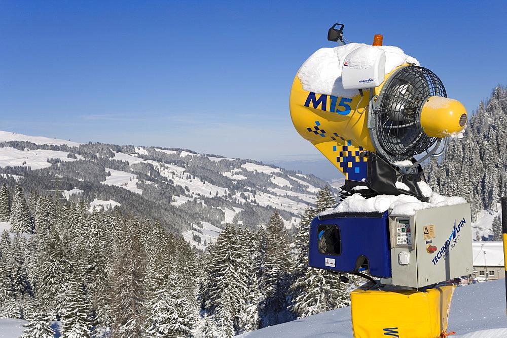 Snowgun, Riggisalp, Fribourg, Switzerland
