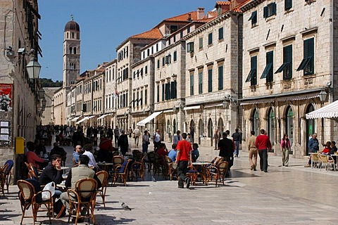 World cultural heritage DUBROVNIK at the Dalmatini coast of the Adria. Croatia, Dalmatia.