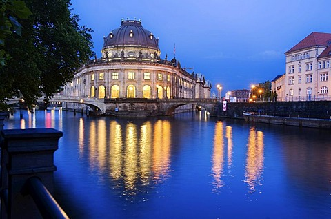 Museum island, Bode Museum in the evening, Berlin, Germany