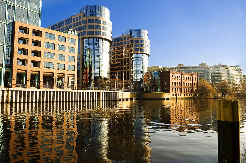 Ministry of the Interior, in foreground the river Spree, Berlin, Germany