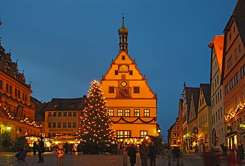 Christmas market at Rothenburg ob der Tauber, Bavaria, Germany