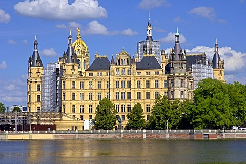 Castle of Schwerin, Mecklenburg-Western Pomerania, Germany