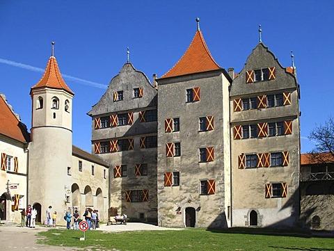 The castle of Harburg, Bavaria, Germany
