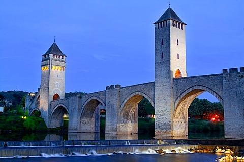 Pont Valentre, Cahors, Midi-Pyrenees, France