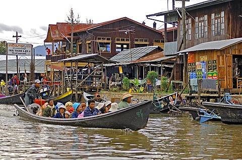Iwama Village at the lake Inle, Myanmar, Burma