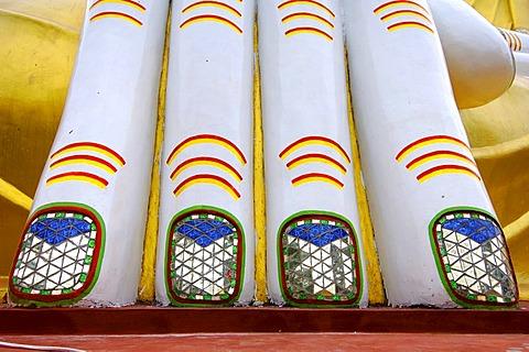 Buddha's fingers at the Kyaik-Kauk-Pagoda at Bago, Myanmar, Burma