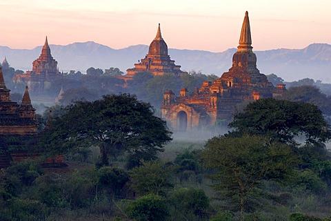 The archaeological site of Pagan, Bagan, Myanmar, Burma
