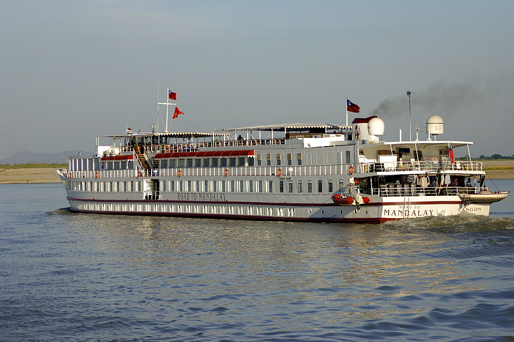 Cruise ship queen of mandalay at river Irrawaddy, Myanmar, Burma