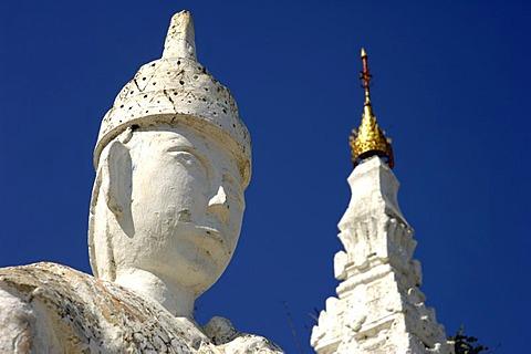 Guard at the Set-taw-ya-Pagoda, Mingun, Myanmar, Burma