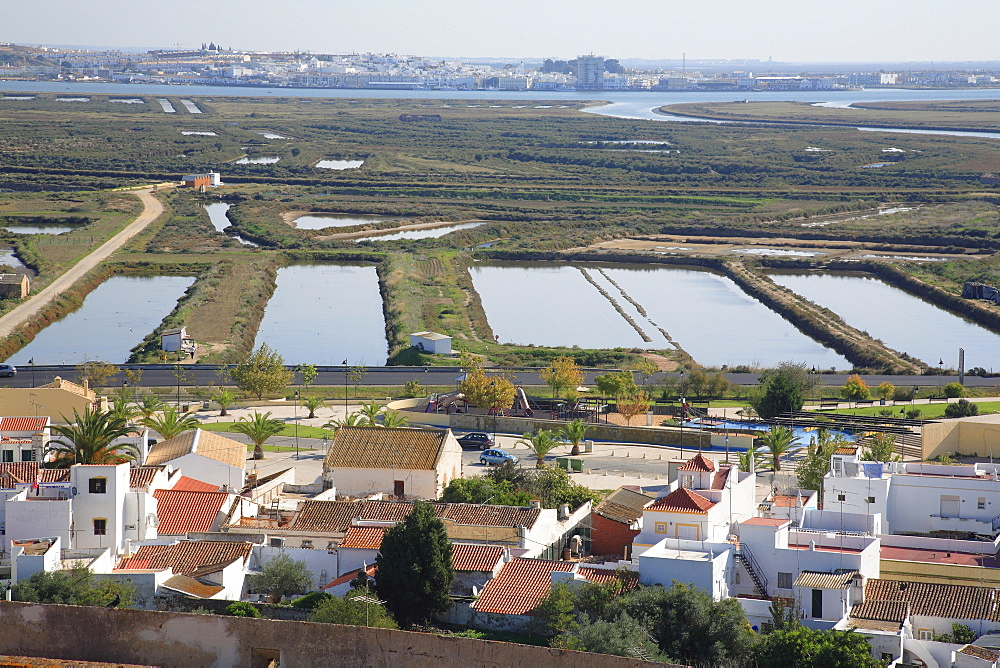 Salt evaporation ponds, Castro Marim, Algarve, Portugal