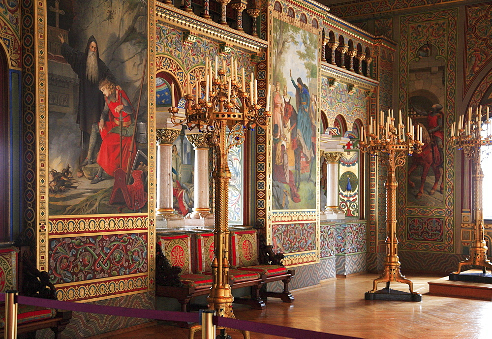 Room in Hohenschwangau Castle near Fuessen, Schwangau, Bavaria, Germany