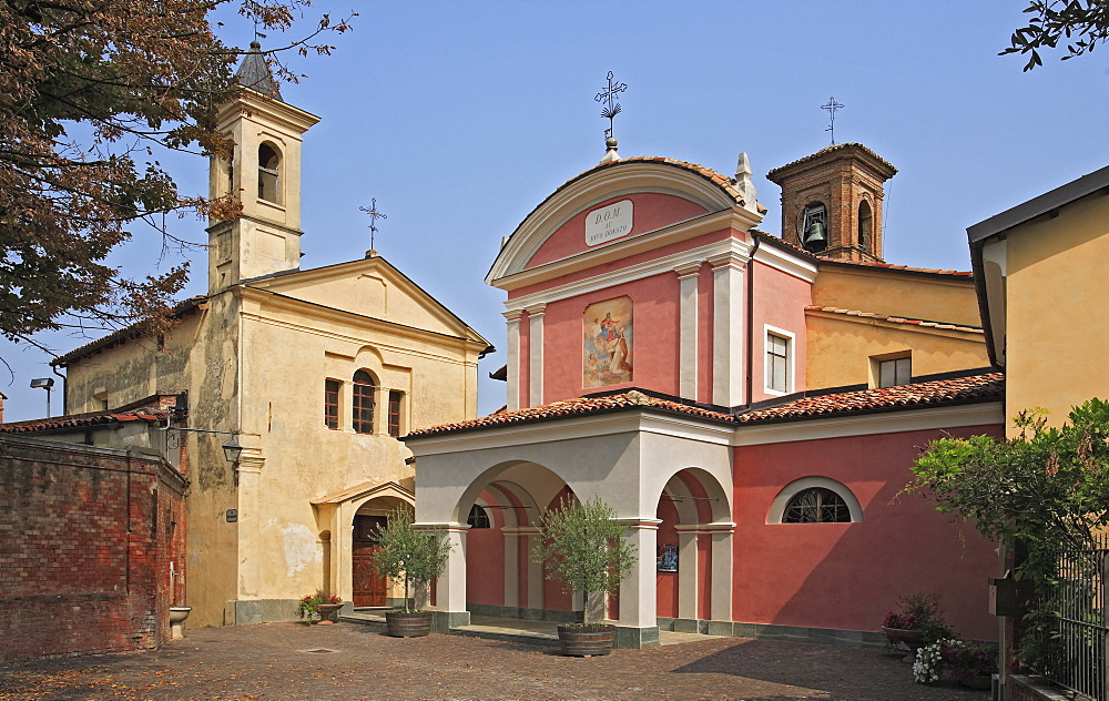San Donato Church in Barolo, Langhe, Piedmont, Italy, Europe