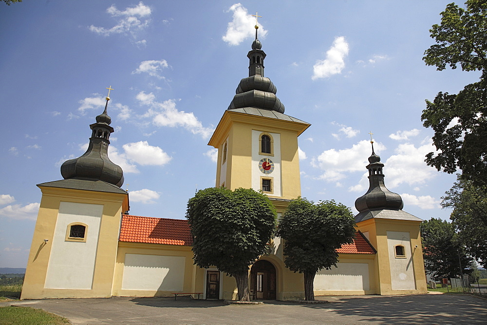 Pilgrimage church Maria Loreto in Star˝ Hroznatov, Altkinsberg, Cheb region, Eger, Boehmen, Egerland, Czech Republic, Europe