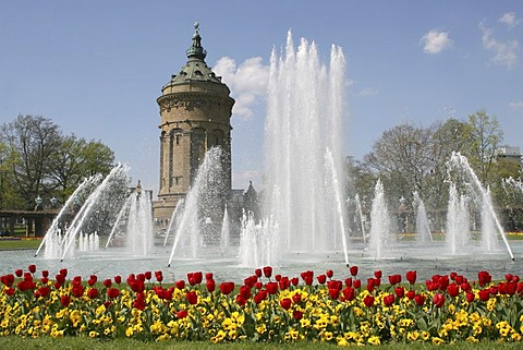 Water tower of Mannheim, Baden-Wuerttemberg, Germany