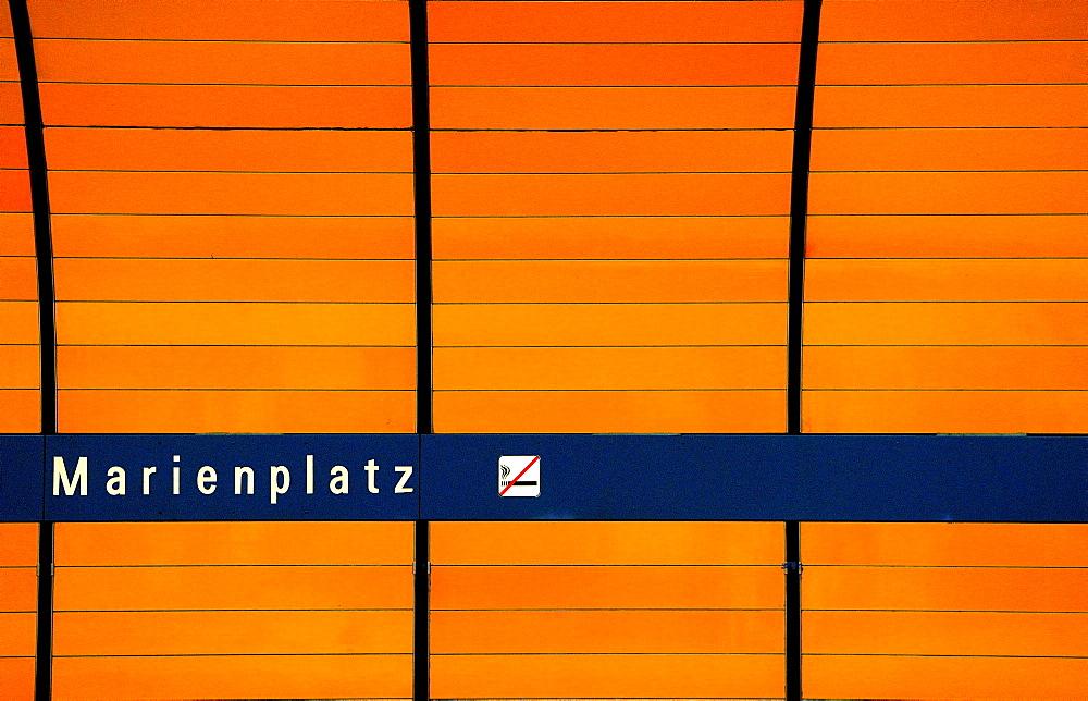Marienplatz subway station, Munich, Bavaria, Germany, Europe