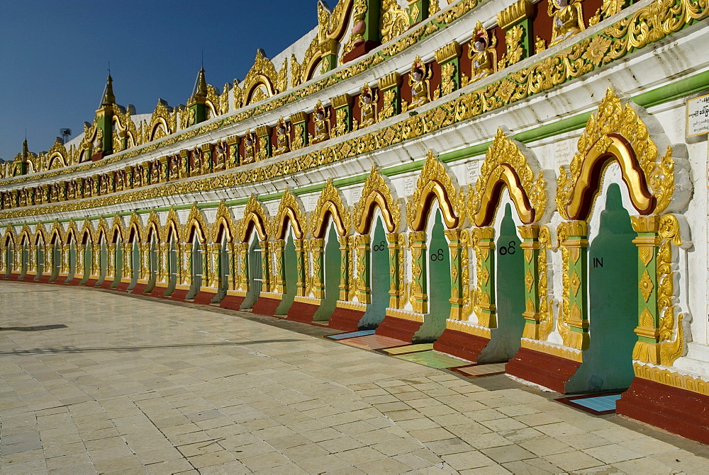 Temple complex on Mandalay Hill, Mandalay, Myanmar (Burma), Southeast Asia