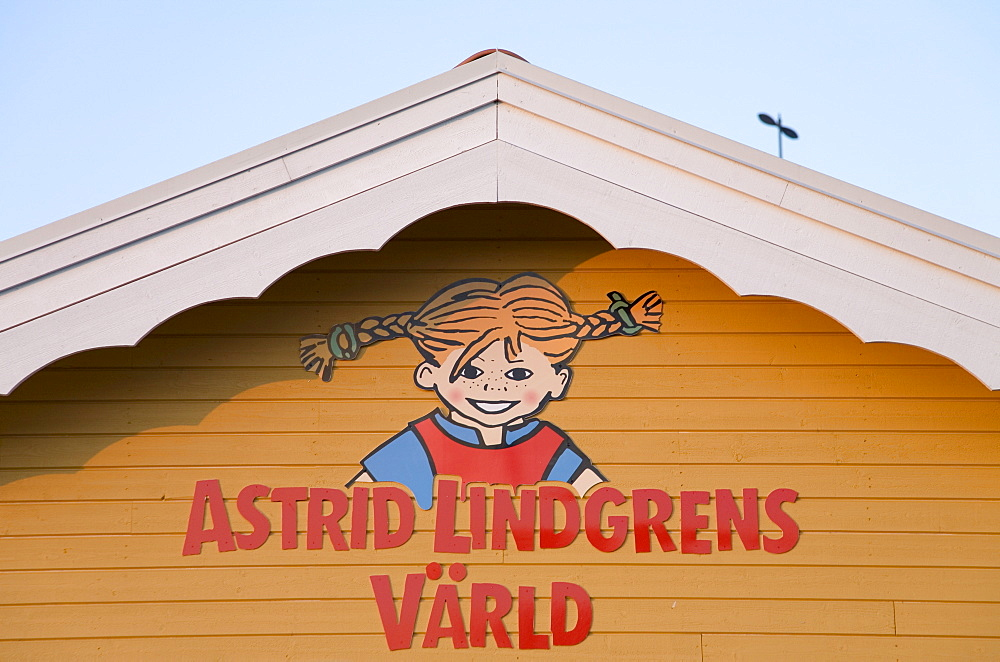 Entrance to Astrid Lindgren's World amusement park, Vimmerby, Sweden, Scandinavia, Europe