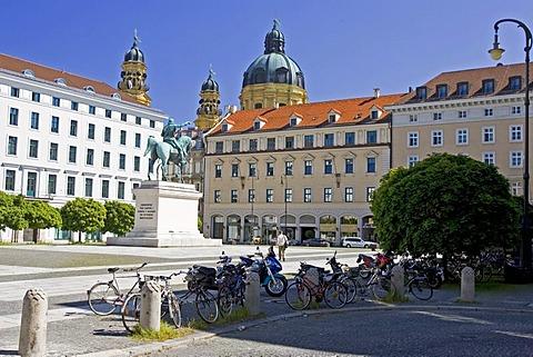 Munich, GER, 01. Jun. 2005 - Monument of Elector Maximilian at Wittelsbacher Platz in Munich