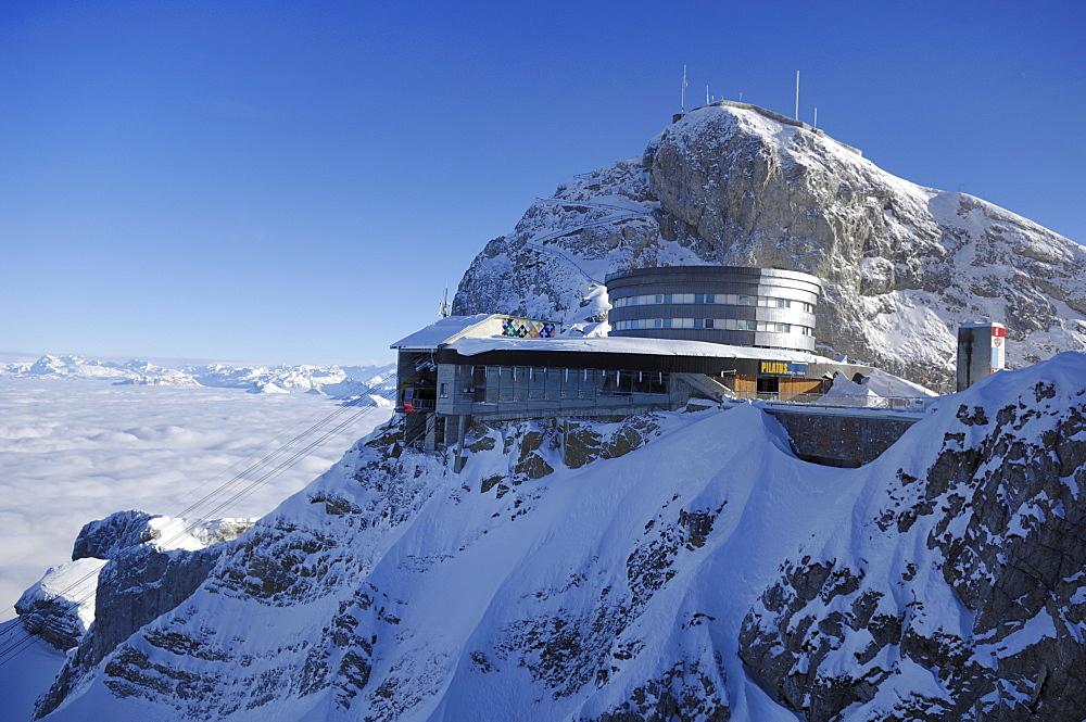 Mt. Pilatus Kulm Mountain Station, Lucerne, Central Switzerland, Switzerland, Europe