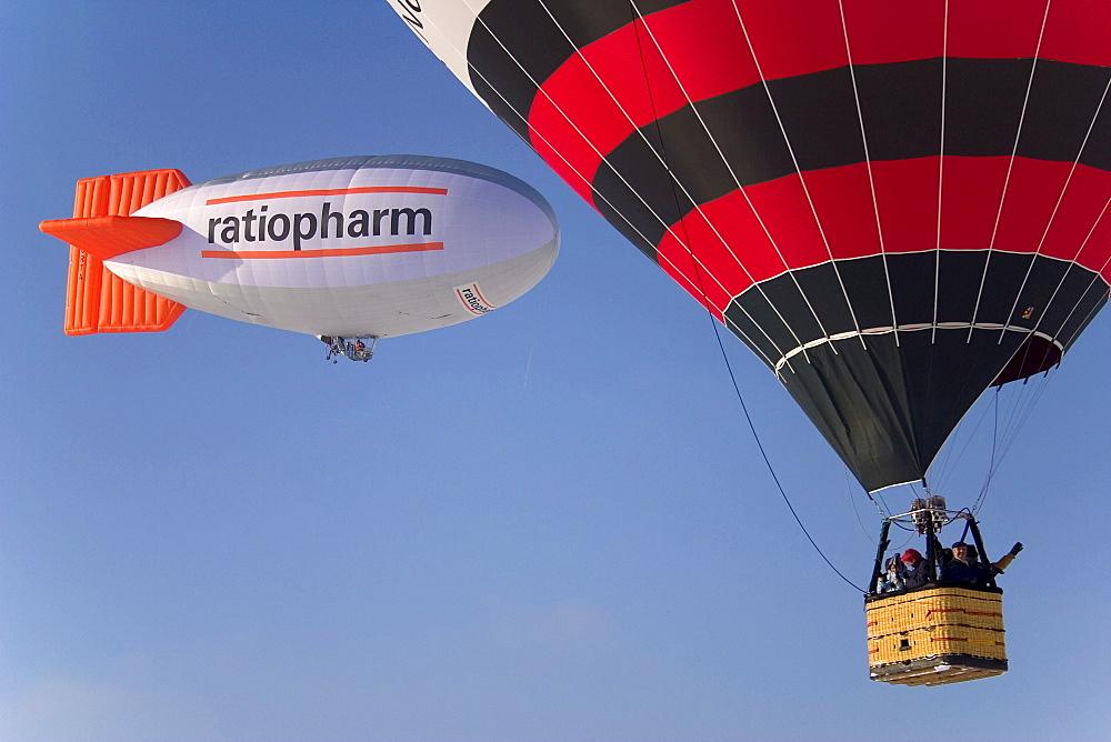 Hot-air balloons in the air