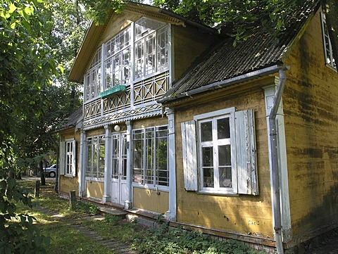 Wooden 19th century villa in the formerly classy baltic see resort Jurmala near Riga Latvia