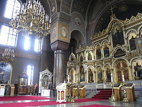 Iconostasis of orthodox Uspenski cathedral Helsinki Finland Scandinavia
