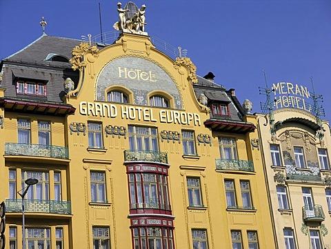 Grand Hotel Europa Prague Wenceslas Square Czech Republic