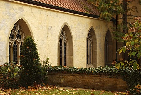 Monastery yard of the collegiate church pc. Pelargius monastery Denkendorf Baden Wuerttemberg Germany