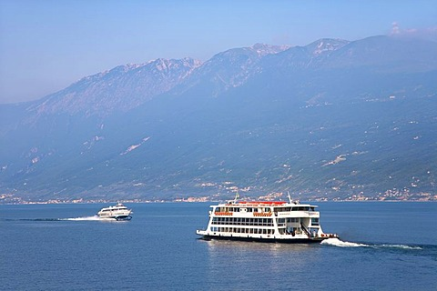 Ferry boat, Lake Garda, Italy, Europe