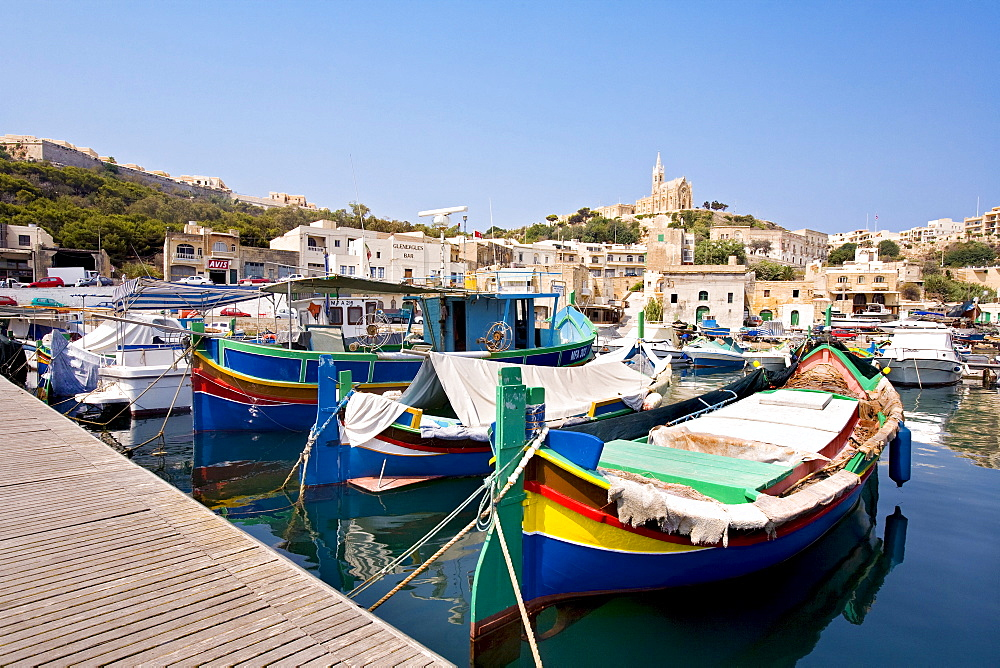 Fishing harbour, Mgarr, Gozo, Malta, Europe