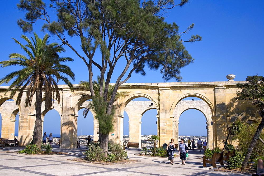 Upper Barracca Gardens, Valletta, Malta, Europe
