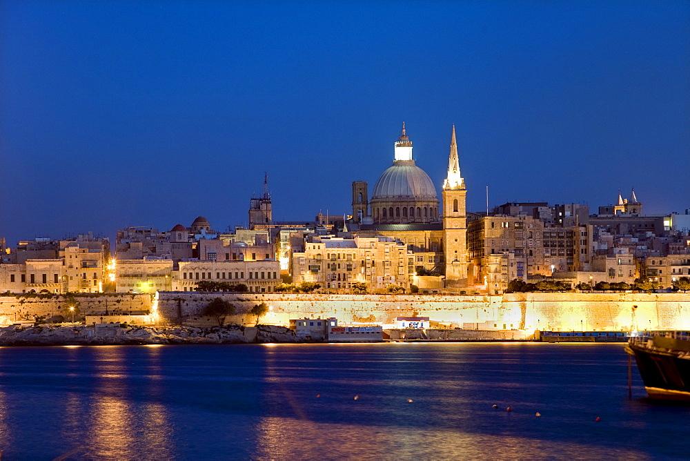 View of St Pauls Church, Valletta, Malta, Europe