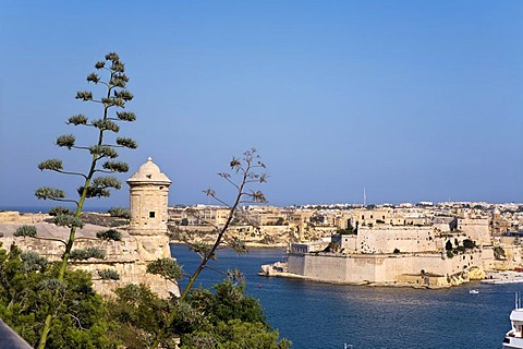 View from Valletta of Vittoriosa, Malta, Europe