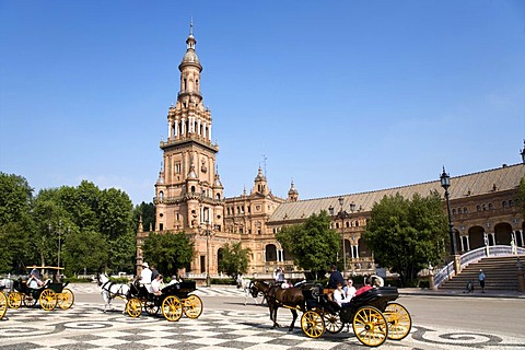 Plaza Espana, Seville, Andalusia, Spain, Europe
