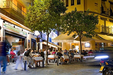 Street cafe, Seville, Andalusia, Spain, Europe