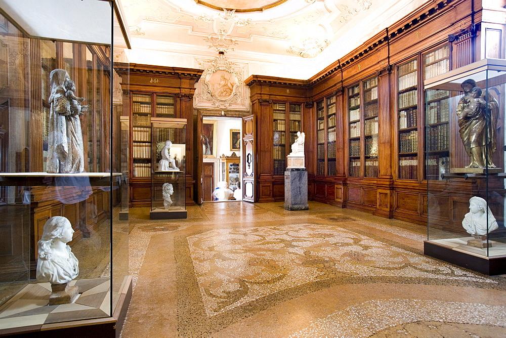 Library, San Lazzaro degli Armeni, Venetian Lagoon, Italy, Europe
