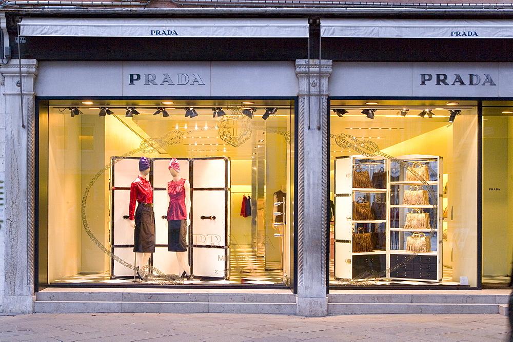 Window Display, Prada, Fashion store, Venice, Venezia, Italy, Europe