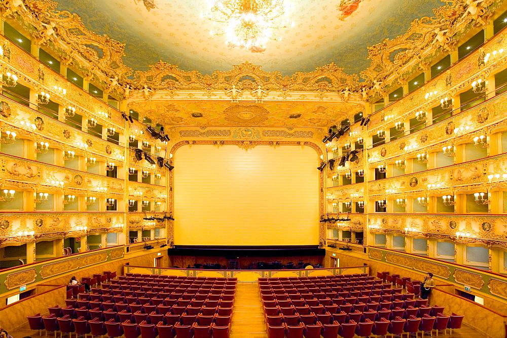 Interior, Teatro La Fenice, Venezia, Venice, Italy, Europe