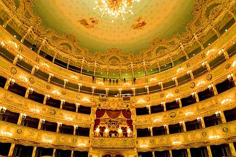 Interior, Audience Box Seating, Teatro La Fenice, Venezia, Venice, Italy, Europe