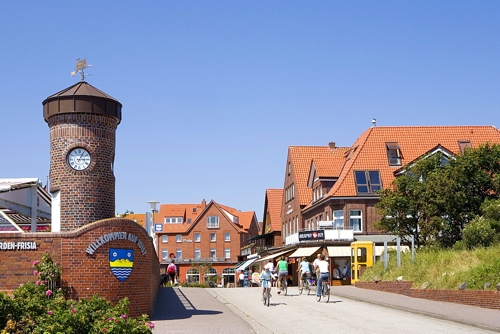 View of Juist, East Frisian Islands, East Frisia, Lower Saxony, Germany, Europe