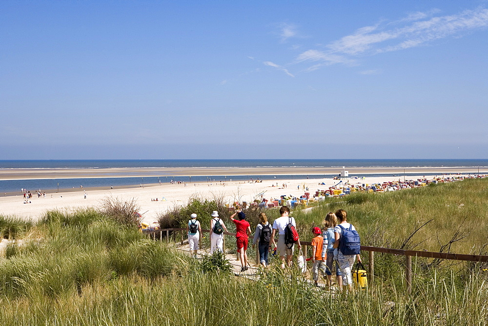 Dunes and beach, Langeoog Island, East Frisia, Lower Saxony, Germany, Europe