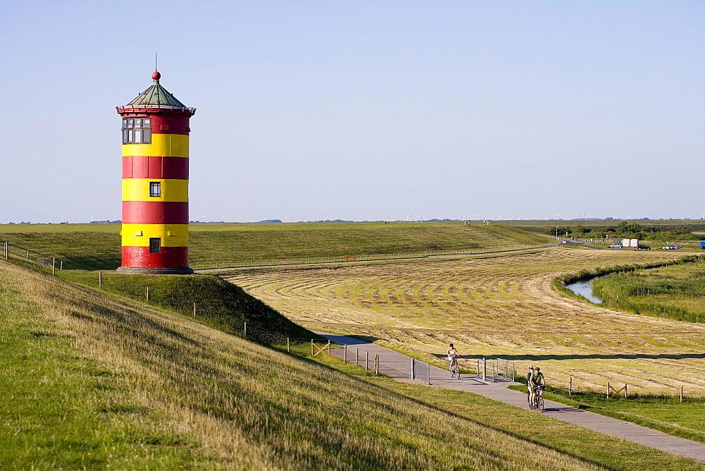 Pilsum Lighthouse, Pilsum, Krummhoern, East Frisia, Lower Saxony, Germany, Europe
