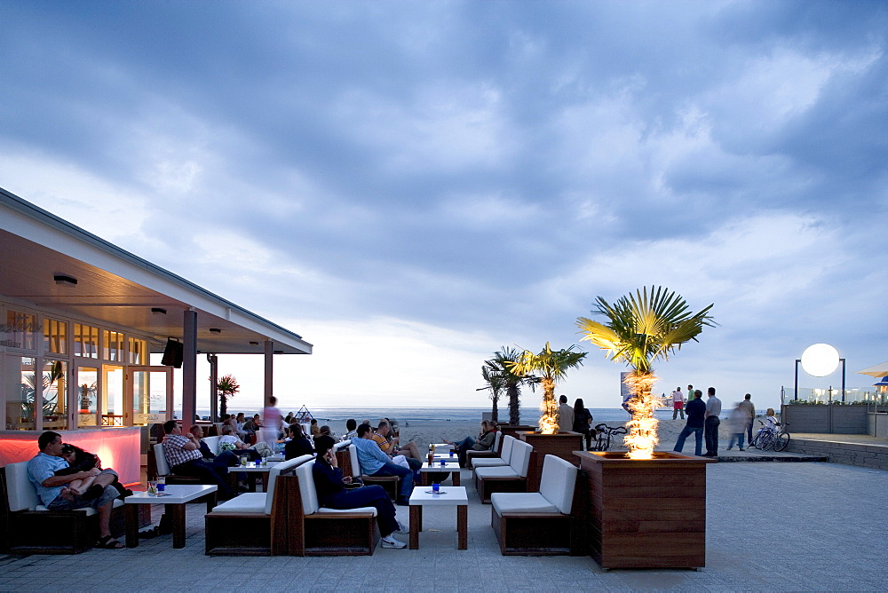 Schusters Strandbar, beach bar, Warnemuende, Rostock, Mecklenburg-Western Pomerania, Germany, Europe