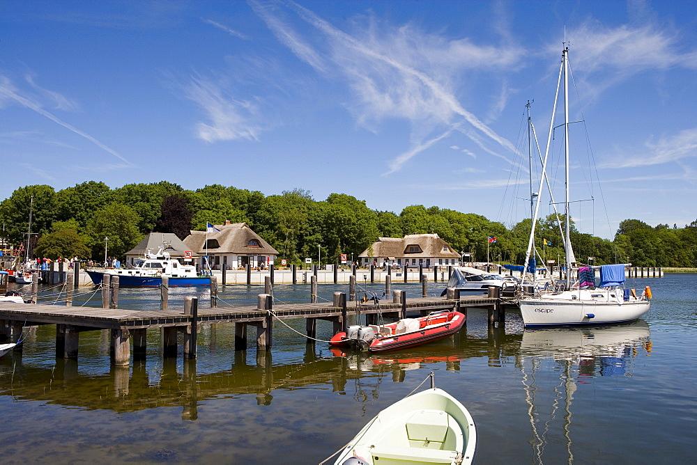 Harbour, Kloster, Hiddensee Island, Baltic Sea, Mecklenburg-Western Pomerania, Germany, Europe