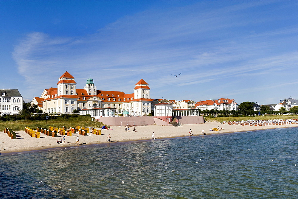 Beach and spa hotel, Binz, Ruegen, Baltic Sea, Mecklenburg-Western Pomerania, Germany, Europe