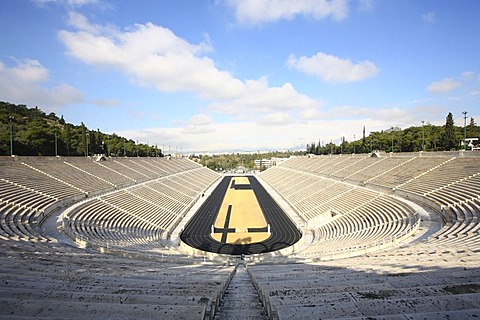 Panathinaikos, stadium of the first modern Olympic Games 1896, Athens, Greece