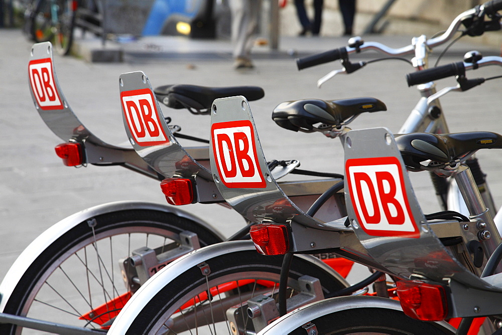 Deutsche Bahn, German National Railway Company, bicycles for hire