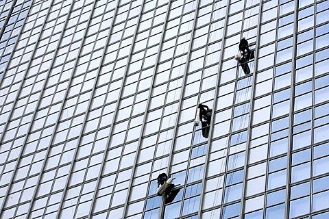 Window cleaner, Berlin, Germany