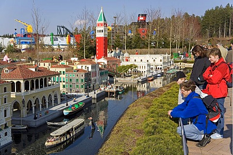 Impressions from the Legoland Park near Guenzburg, on the left the Miniland